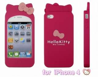 4th Hello Kitty Double Bow Silicone Soft W/Ear Case Lovely M530