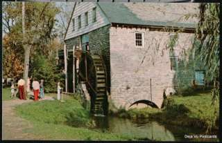 MILL BRIDGE VILLAGE PA John Herr Water Wheel Mill Vtg