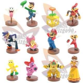Mario Bros 1.5 2 Lot 12 LUIGI BOWSER Figure Toy MS82