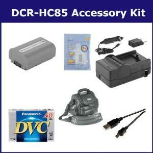Sony DCR HC85 Camcorder Accessory Kit includes DVTAPE Tape/ Media