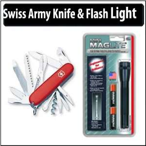 Victorinox Swiss Army Ranger Knife & Flashlight Bundle