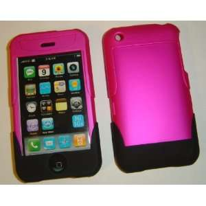For Apple iPhone Hot Pink 2 Piece Slider Swill Front Back