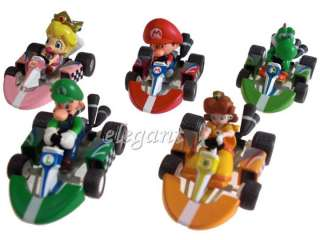 Super Mario Kart 2 Luigi Yoshi Bowser 10 Figures Set
