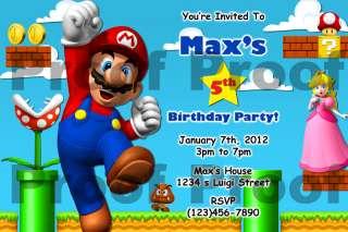 Super Mario Bros Birthday Invitation