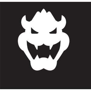 Super Mario Bowser Logo Sticker Decal. Peel and Stick