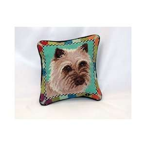 Cairn Terrier Needle Point Pillow (8x8 in.)