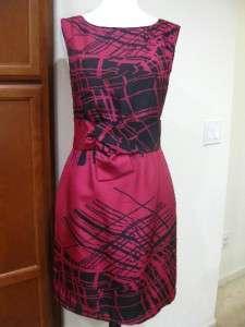 NEW$388 Kate Spade new york Printed knot bow silk Sleeveless Dress us