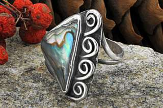 Sterling Silver Handmade Mother of Pearl Ring Size 5.5