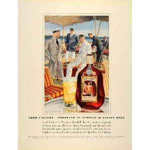 1939 Ad Calvert Distillers Lord Whiskey Leslie Saalburg