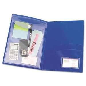 Two Pocket Folder, Sealed Envelope with Clasp, Navy, 3