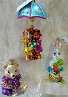 RADKO Bunnys Basket Bonanza ORNAMENT Easter 0204130