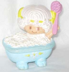 STRAWBERRY SHORTCAKE ANGEL CAKE MINI PVC VINTAGE bath