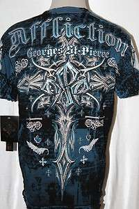 SIGNATURE SERIES RUSH GEORGE ST PIERRE GOTHIC SHIRT SIZE M L