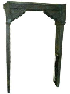 18C ANTIQUE INDIA WELCOME GATE RUSTIC HAND CARVED TEAK