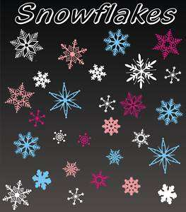 SNOWFLAKES christmas decor wall sticker vinyl decal
