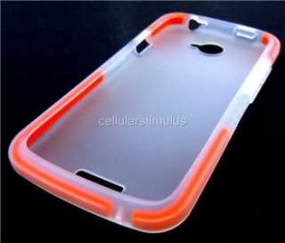 New OEM Clear T Mobile D3O Flex Hard Rubber Cover Shell Case for HTC