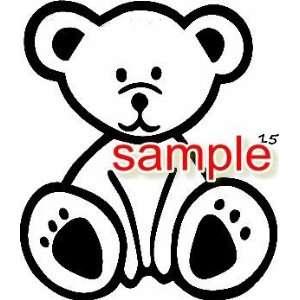 CUTE TEDDY BEAR CARTOON WHITE VINYL DECAL STICKER
