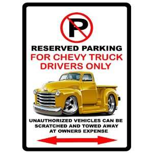 52 Chevrolet Pickup Truck Car toon No Parking Sign