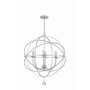 Crystorama 9226 OS SS Solaris Chandelier in Olde Silver Baby