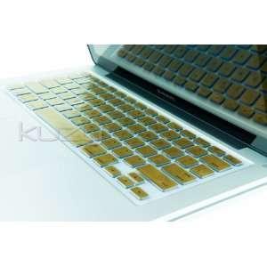 METALLIC GOLD Keyboard Silicone Cover Skin for Macbook / Macbook