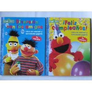 Sesame Street Spanish (Plaza Sesamo) Coloring Books 2 Pack