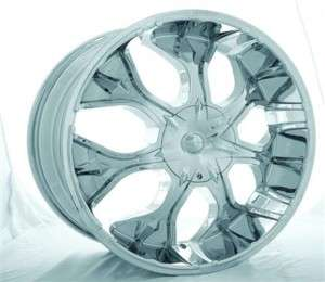 FERRETTI 265 CHROME Wheel Cap, FITS 22 AND 20, CAP ONLY