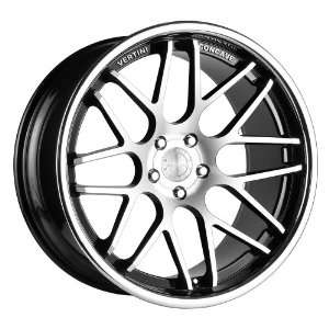 wheels 20 X8.5 & 20X10 staggered BLACK MACHINE FACE RIMS 4pc 1set