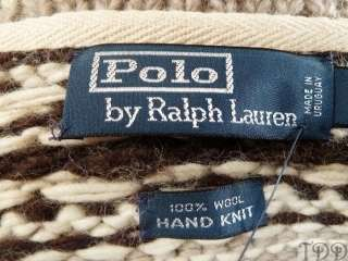 NWT 495 Polo Ralph Lauren Wool Moose Cardigan Sweater L