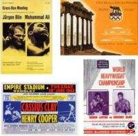 Cassius Clay Muhammad Ali program postcard set # 4