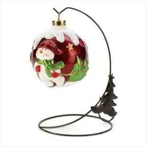 Change Led Light Snowman Christmas Ornament Stand