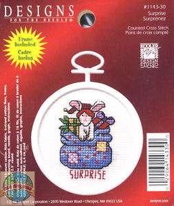 Cross Stitch Kit ~ DFN Santa Toy Bag Surprise w/Frame