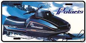 Polaris Centurion vintage snowmobile licence plate