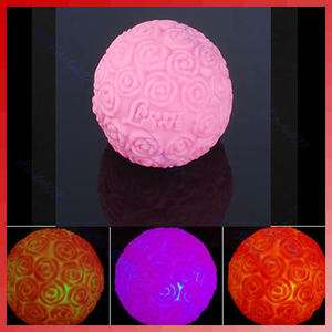 Changing 7 Color LED Rose Flower Ball Party Light Lamp