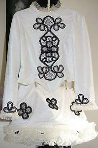 Irish Dance Solo Costume Dress Shell Girls Size 10   12 **Decorated