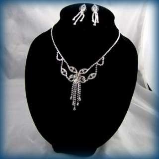 ADDL Item  Necklace Earrings Set rhinestone crystal