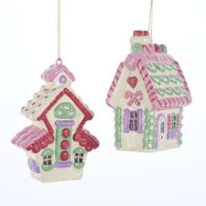 Sugar Town Pastel Candy House Christmas Ornaments 4 Home & Kitchen