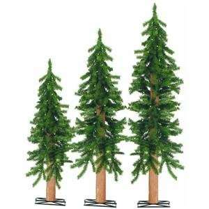 Alpine Tree Pre Lit Artificial Christmas Tree Clear Lights
