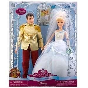 Once Upon a Wedding Prince Charming and Cinderella Doll Set Toys
