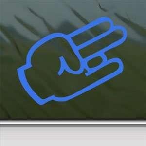 SHOCKER Hand Sign Blue Decal Car Truck Window Blue Sticker
