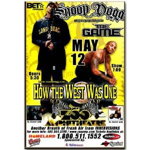 Snoop Dogg Poster   OKC Concert Flyer   How the West Was