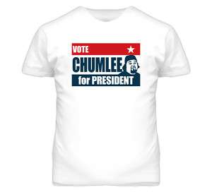 Chumlee For President Pawn Stars T Shirt White