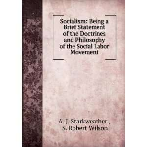 the Social Labor Movement S. Robert Wilson A. J. Starkweather  Books