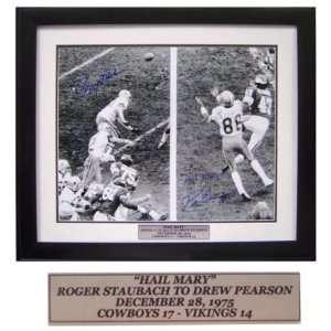 Roger Staubach and Drew Pearson Dallas Cowboys   Hail Mary Tribute