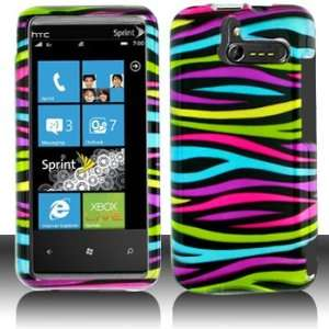 HTC Arrive 7575 Rainbow Zebra Hard Case Cover Phone Protector (free