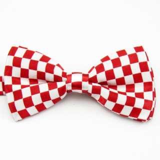 New Mens Bow Tie Necktie Adjustable Pre tied Formal Colorful Plaid