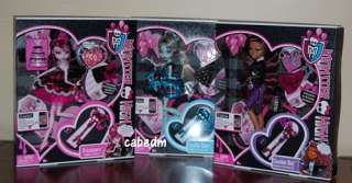 Monster High Sweet 1600 Dolls Draculaura Clawdeen Wolf Frankie
