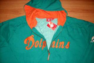 Miami Dolphins Hoodie Jacket 3XL Full Zip NFL Specialty
