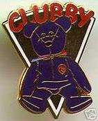 BBOC TY Beanie Baby ty CLUBBY Lapel Pin Badge Pins