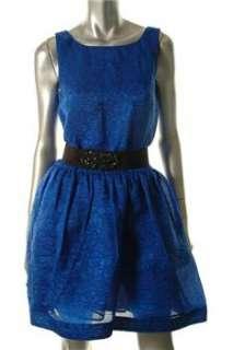 BCBG Maxazria NEW Blue Cocktail Dress Textured Sale S