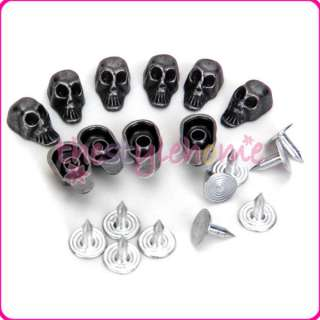 13x8mm Skull Rivets Studs for Leather Bracelet Handbag Punk Rock Spike